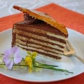 Dobos torte -- a classic Hungarian spongecake with chocolate buttercream and caramel! (photo Google Images)